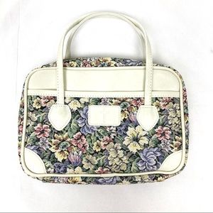 Vintage tapestry pure floral cross white case